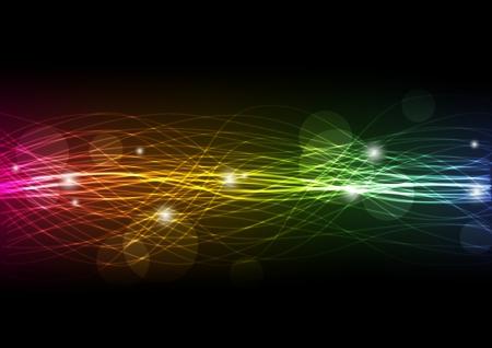Abstract rainbow background with lights Vektoros illusztráció