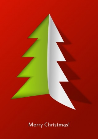Open Christmas - paper Xmas tree Stock Vector - 15497266