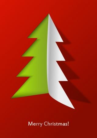 Open Christmas - paper Xmas tree Stock Vector - 15497266