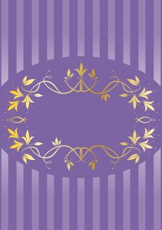 Menu elegant background with golden frame Vector