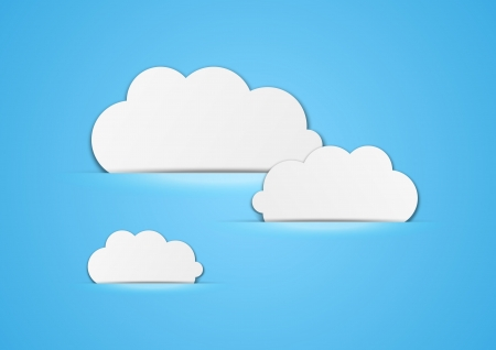 Paper clouds background with place for text Stock Vector - 15497272