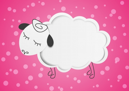 Paper sheep background with place for text Stock Vector - 15497045