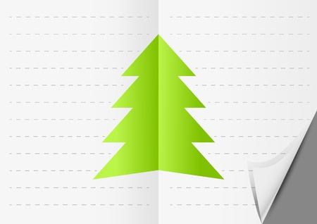 Paper Xmas background with place for text Vector