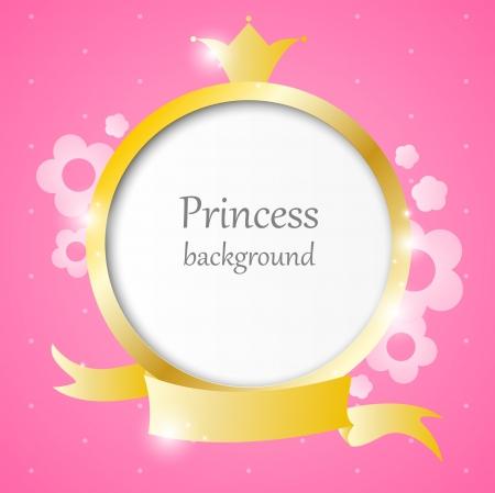 corona princesa: Fondo rosado lindo para little princess