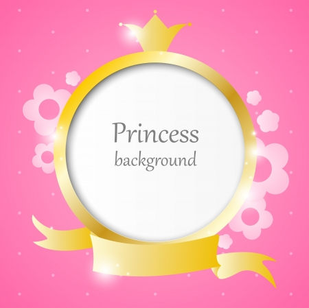 princess crown: Pink cute background for little princess