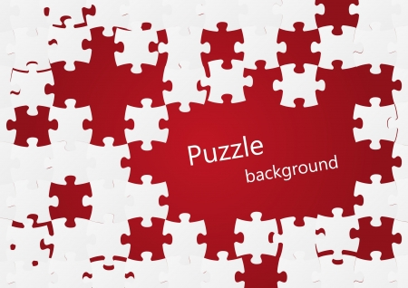 Puzzle background with place for text