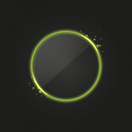 Vert anneau rougeoyant avec des lumi�res Illustration