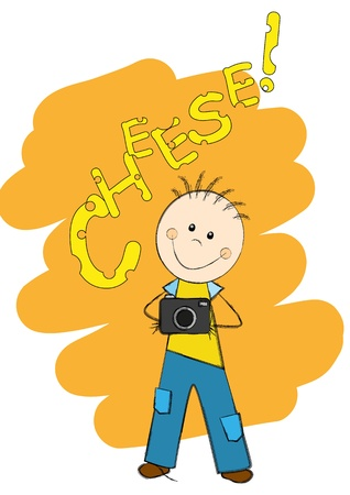 Cartoon funny photographer Stock Vector - 15468028