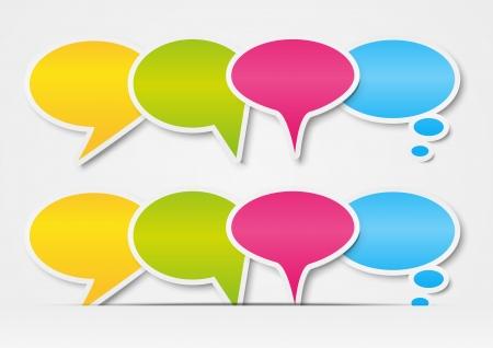 Set of paper speech bubbles border Stock Vector - 15467998