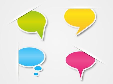 Set of paper speech bubbles Stock Vector - 15467987