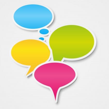 speech bubble: Speech bubbles background avec place pour le texte Illustration