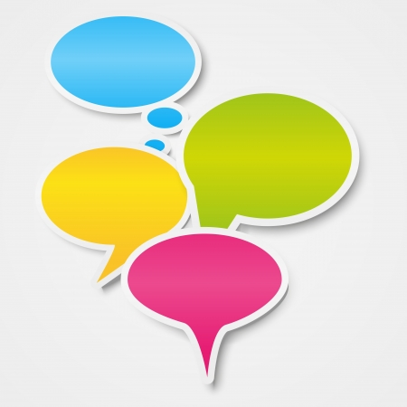 place for text: Speech bubbles background with place for text Illustration