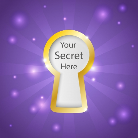 keyhole: Shiny purple background with place for text