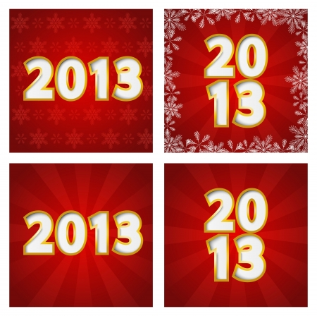 2013 New Year backgounds set Vector