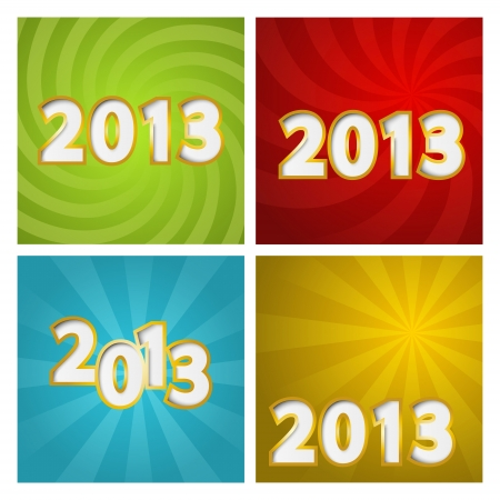 Set of New Year color backgrounds Stock Vector - 15640016