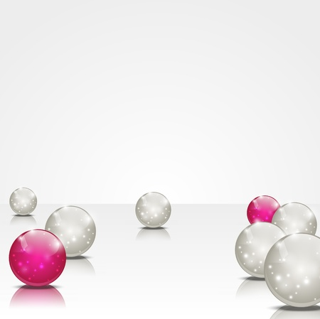 pearls: Abstract background with shiny balls Illustration