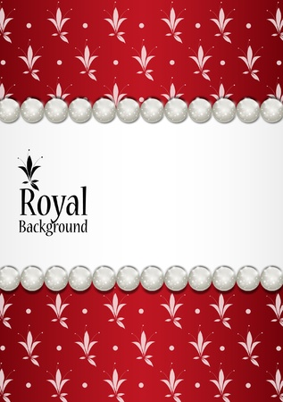 baroque pearl: Royal background with place for text