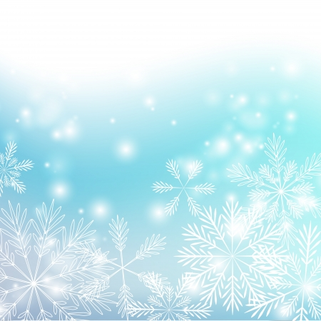 Snowflakes background with shiny lights Vector