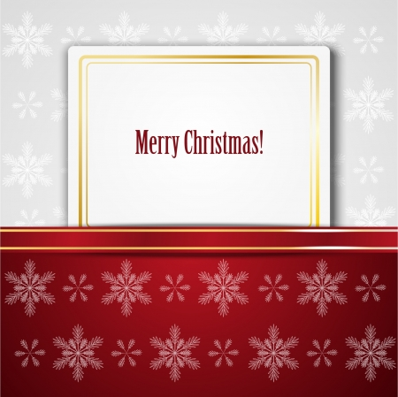 Xmas background with paper banner Stock Vector - 15640056