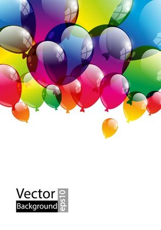 feste feiern: Balloon Hintergrund mit Platz f�r Text