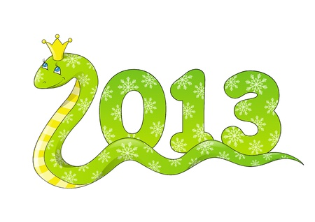 Cute cartoon snake - symbol of Chinese New Year Vector