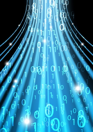 Fond bleu de code binaire - concept d'information