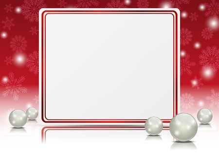 magic ball: Christmas banner with place for text Illustration