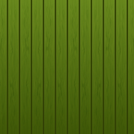 Green wooden background Vector