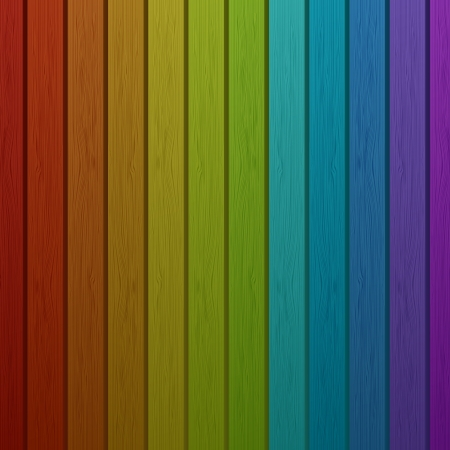 Wooden rainbow background Stock Vector - 16030632