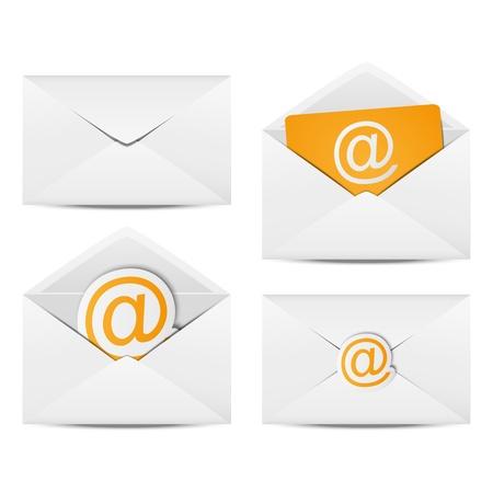 envelope: Set of paper Email envelopes
