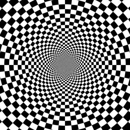 illustration de fond d'illusion optique Illustration