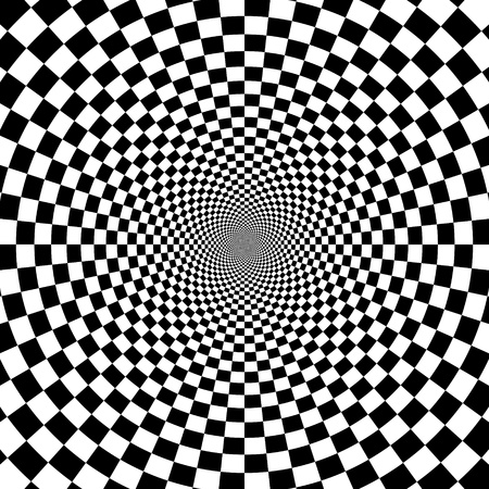 hypnotic: illustration of optical illusion background Illustration