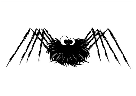 Cute spider isolated on white Vector