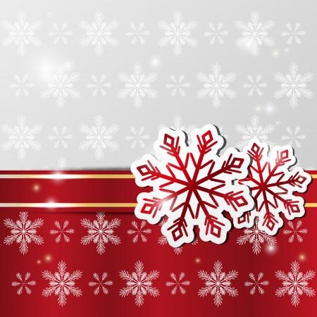 Natale sfondo lucido con fiocchi di neve