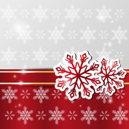 christmas decorations: Xmas shiny background with snowflakes