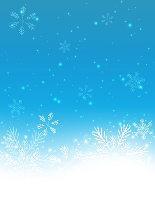 snowflake border: Christmas blue background with snowflakes