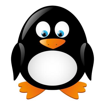 Cute little penguin isolated on white Stock Vector - 16461558