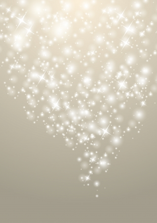 Shiny Christmas background with starry lights Vector