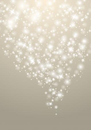 silver circle: Shiny Natale sfondo con le luci stellato Vettoriali