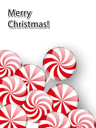 Christmas background with glossy candies Vector