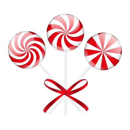 Christmas candies isolated on white Vector