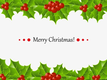 Christmas card with place for text Vector