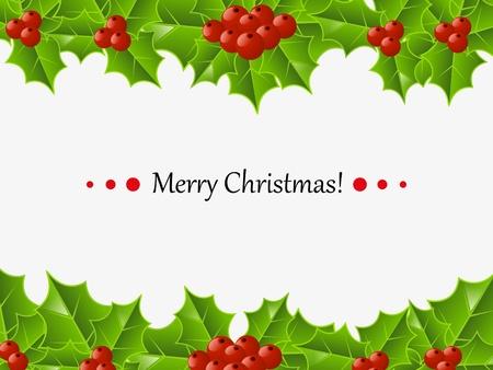 a sprig: Tarjeta de Navidad con lugar para el texto