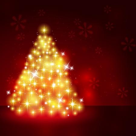 Shiny Christmas tree Stock Photo - 16770309