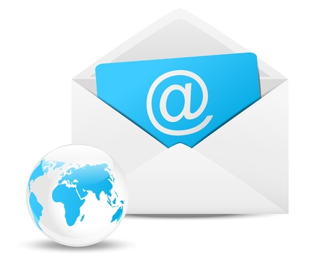 Envelope with Earth planet - email concept Stock Photo - 16892887
