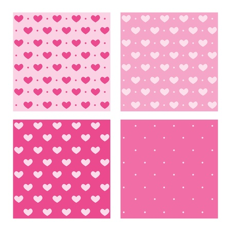 Set of Valentine pink patterns Stock Photo - 16892890
