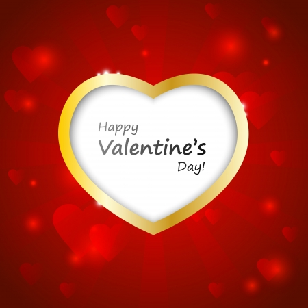 Valentine card with place for text Stock Photo - 17224726