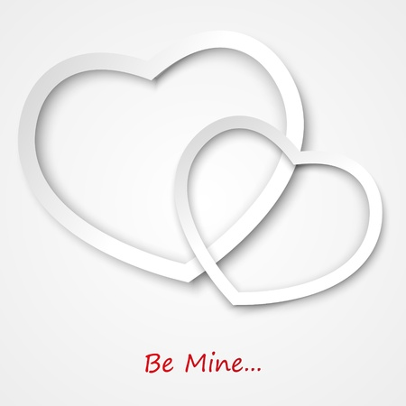 Valentine card with place for text Stock Vector - 17384430