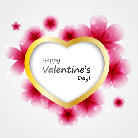 Valentine floral heart background with place for text Stock Vector - 17384437