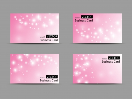 company name: Set of vector business cards Illustration